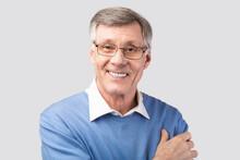 Portrait Of Senior Man Smiling...