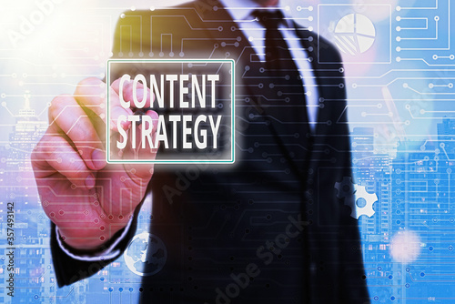 Word writing text Content Strategy Wallpaper Mural