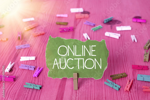 Writing note showing Online Auction Wallpaper Mural