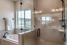 Frameless Walk In Shower Stall...