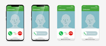 Call Screen Layout, Realistic ...