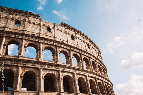 Obraz na plátne The Colosseum or Coliseum also known as the Flavian Amphitheatre, Rome, Italy