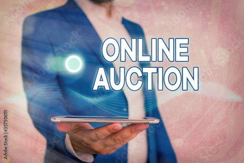 Photo Handwriting text Online Auction