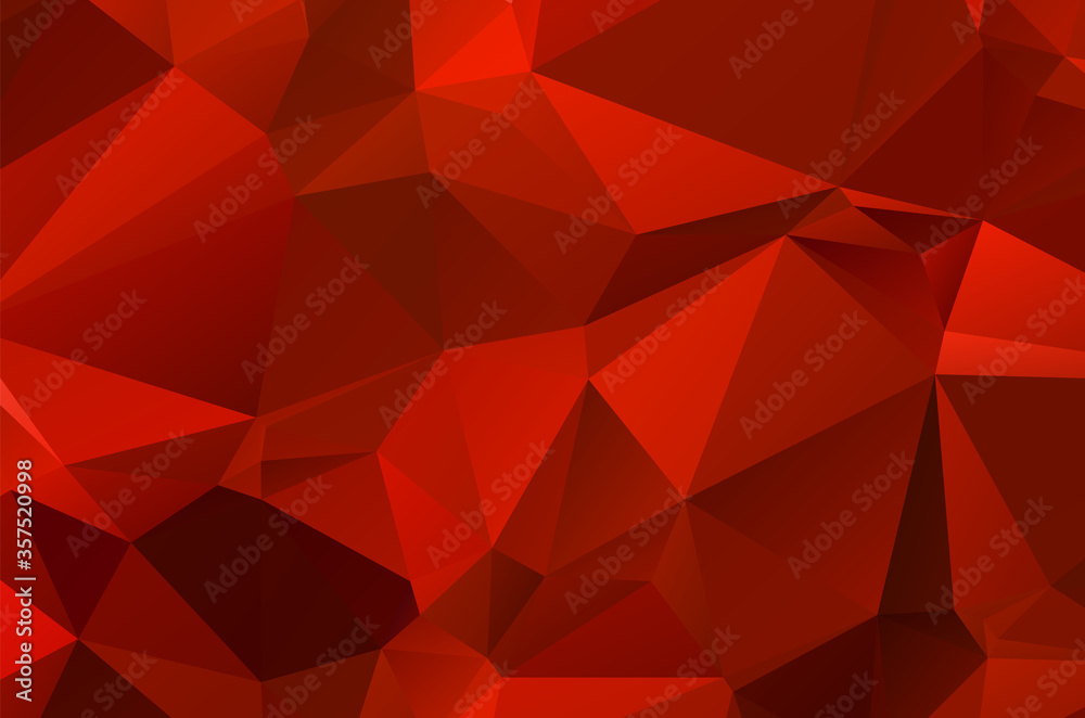 Fototapeta Abstract red geometric background for design