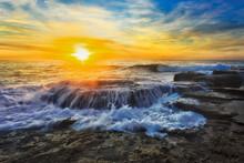 Sea TB On Rocks Sun Overflow