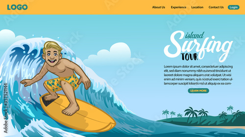 landing page of surfing page Canvas
