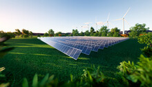 Solar Farm Or Solar Power Plan...