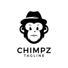 Cartoon Funny Chimpanzee With ...