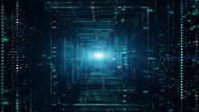 Digital Tunnel Of Cyberspace W...