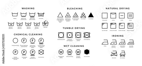 Foto Laundry care icons