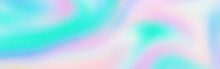 Abstract Holographic Texture Rainbow Banner Holo Blur Blank Background