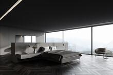 Grey Panoramic Master Bedroom ...