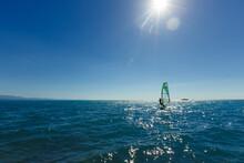 Windsurfer Panorama Silhouette...