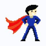 Fototapeta Dinusie - Super hero in pixel art