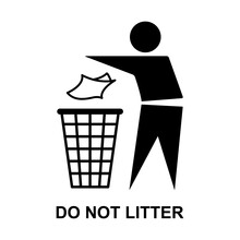 Do Not Litter Flat Icon Isolat...