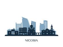 Nicosia Skyline, Monochrome Si...