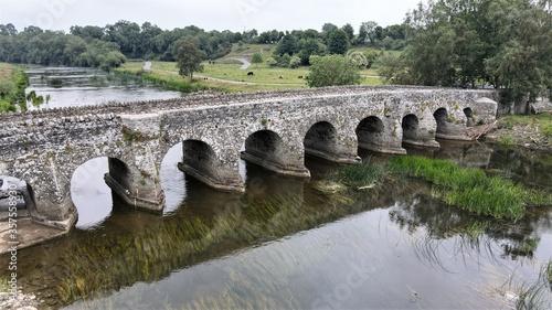 Obraz na plátne ,county meath,bective abbey,river boyne,abbey,bective,boyne,braveheart,bridge,co