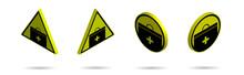 Set Of Isometric Yellow Black ...