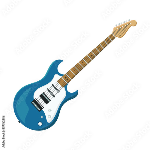 Fotografía Electric guitar flat style isolated on white