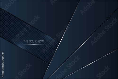 Photo Technology background metal of blue with dark space vector illustration