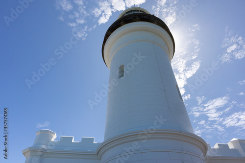 Byron Bay, New South Wales NSW, Australia; March 2020: Lighthouse building pictu Canvas Print