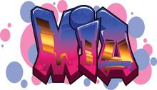 Mia Name Text Graffiti Word Design