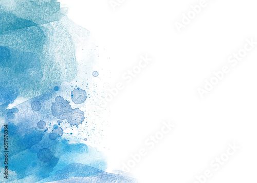 Fotomural abstract watercolor backround  on white background