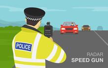 Traffic Police Officer Holding...
