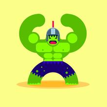Hulking Super Hero Warrior Wit...