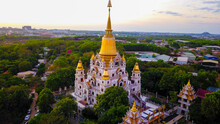 Drone View Of Buu Long Pagoda ...