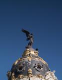 Fototapeta Fototapeta Londyn - pomnik posąg niebo niebieskie słonecznie