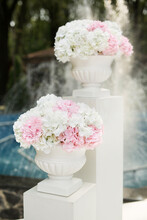 White And Pink Flowers In Vase...