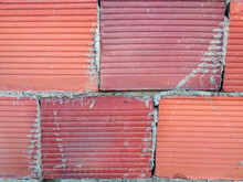 Red Brick Wall With Roof Tiles