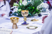 Altar With Host And Chalice Wi...