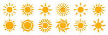 Set Sun Icons Sign - Stock Vec...