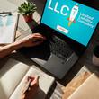 Leinwandbild Motiv LLC Limited Liability Company. Business strategy and technology concept.