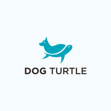 Turtle Dog Logo. Tortoise Icon