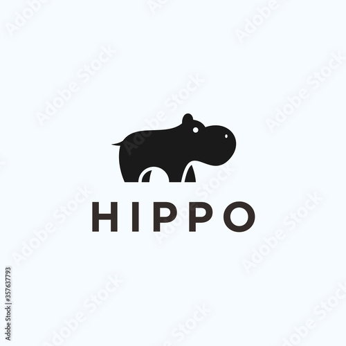 Canvas-taulu hippo logo / hippo icon