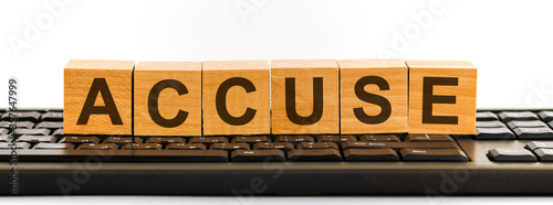 ACCUSE word made with building blocks Canvas Print