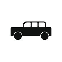 Retro Car Icon, Black Color On...