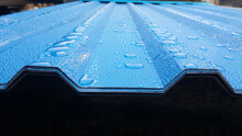 Blue Corrugated Sheet With Dro...
