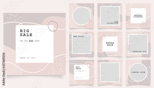 Photo social media template banner fashion sale promotion