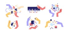Set Of Colorful Cartoon Human ...