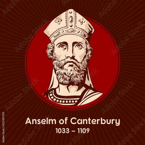 Fotografía Saint Anselm of Canterbury (1033-1109) was an Italian Benedictine monk, abbot, philosopher and theologian of the Catholic Church, who held the office of Archbishop of Canterbury from 1093 to 1109
