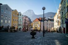 Urban Cityscape With Town Squa...