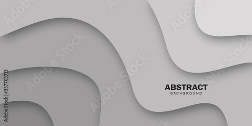 Tela Grey abstract background  in paper cut style. Banner web design.