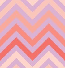 Vector Zigzag Seamless Pattern, Gradient, Living Coral Pink, Lavander Violet