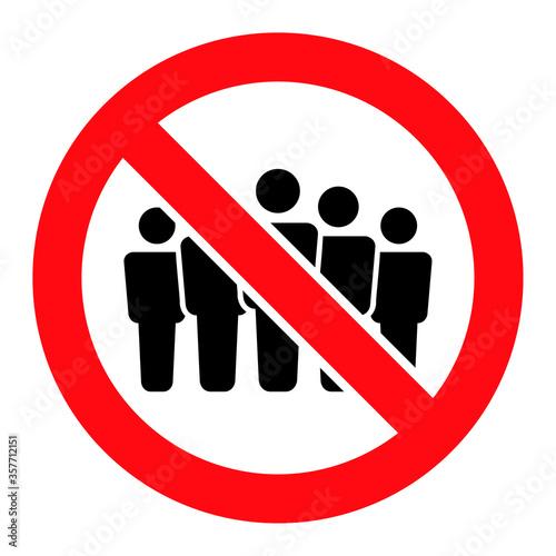 Valokuva Forbidden People Crowd raster illustration