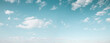 Leinwandbild Motiv Beautiful blue sky with white clouds