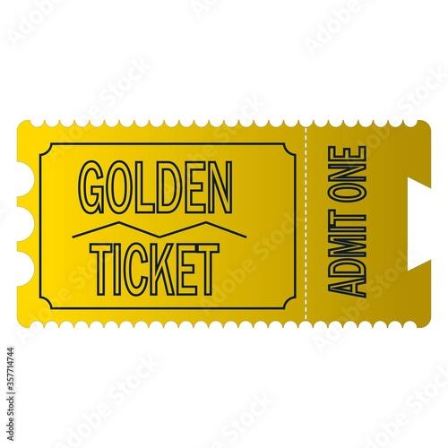 Photo Golden ticket